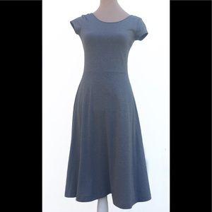 GAP Grey Midi Stretch Tee Dress